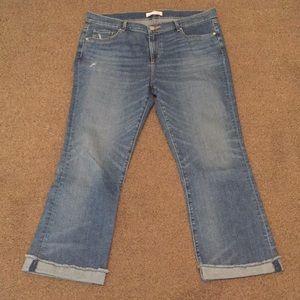 Ann Taylor Loft Flare Crop Jeans